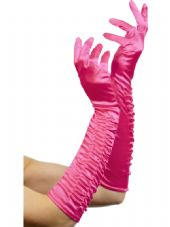 Long Pink Temptress Gloves